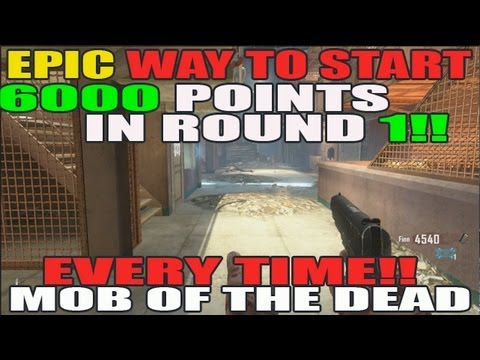 6000 Pts By Round 1 EVERYTIME!! Mob Of The Dead: Epic Way To Start Solo!