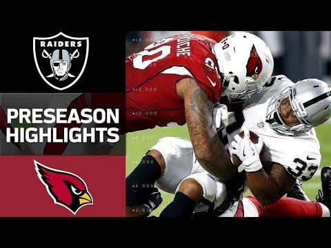 Raiders Vs Cardinals Nfl Preseason Week 1 Game Highlights