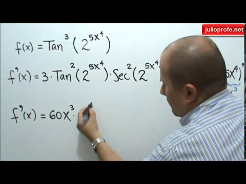 Derivación con la Regla de la Cadena- Derivation with the chain rule