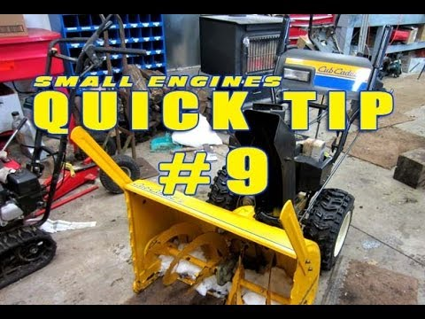 Quick Tip #9 - How To Prevent Burning Out Snowblower Auger Belts