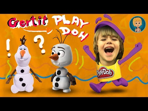 FROZEN Anna and Elsa in Play-Doh 3- Play-Doh Queen Elsa and Olaf Frozen Kids Happy Day