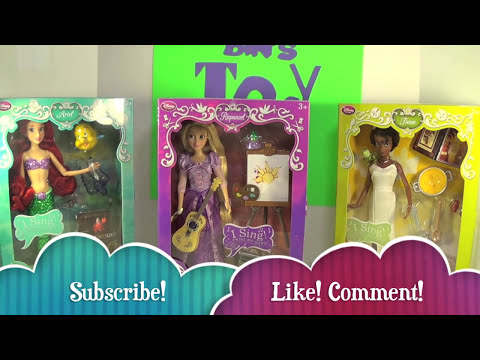 Disney Store Deluxe Singing Princess Dolls Ariel, Tiana, & Rapunzel! Review by Bin's Toy Bin