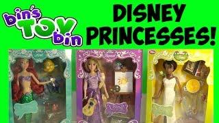 Disney Store Deluxe Singing Princess Dolls Ariel, Tiana, & Rapunzel! Review by Bin's Toy Bin