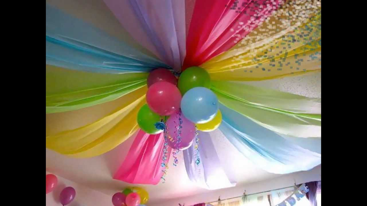 Decoracion para cumplea os infantiles youtube - Decoracion con globos para cumpleanos ...