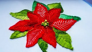 EMBROIDERY : POINSETTIA  \ ВЫШИВКА : ПУАНСЕТТИЯ