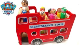 Best Learning Colors Video for Children - Paw Patrol Sightseeing Carnival Tour Bus