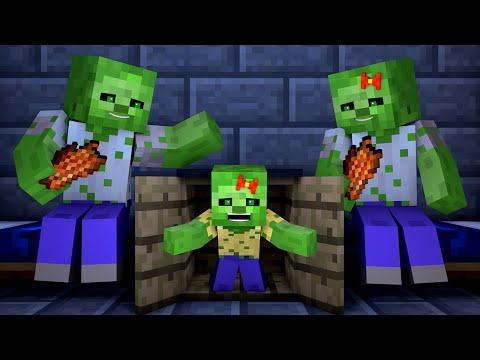 Zombie vs Villager Life 6 - Alien Being Minecraft Animation
