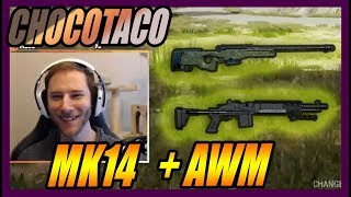 CHOCOTACO AWM + MK14 SOLO GAME | PUBG | OCTOBER 3, 2018