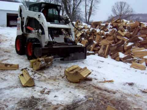 Bobcat Log splitter attachment