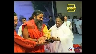 Sri Baba Ramdev at Amritapuri and Amma's Satsang  - Program Highlights