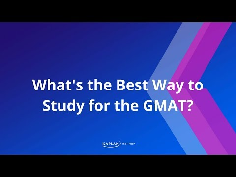 What's the best way to study for the GMAT?