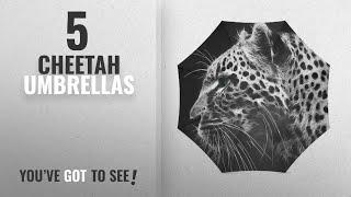 Top 10 Cheetah Umbrellas [2018]: Fashionable Black and white Cool Cheetah/Leopard Compact Travel