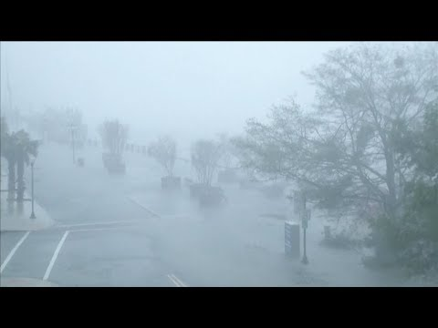 Eye of Hurricane Florence rolls through North and South Carolina - Recorded live September 14th
