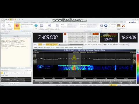 Testing bandicam software - SWL via SDR Radio China 2013-04-07