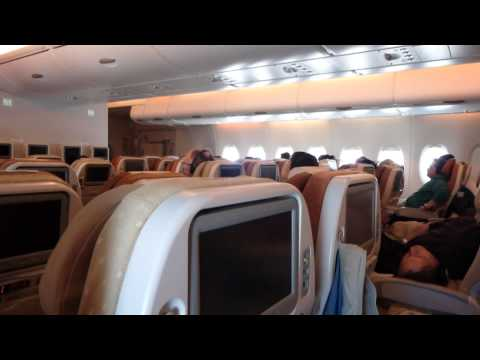 Singapore Airlines New York JFK-Frankfurt Economy class (A380-800) video report (Apr 2014)