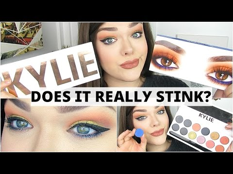 HONEST KYLIE ROYAL PEACH PALETTE REVIEW   DOES IT REALLY STINK?   LIVE SWATCHES & DEPOTTING
