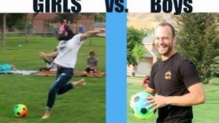 Girls VS. Boys kickball