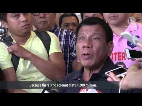 Duterte on bank account: It's a little less than P200 million