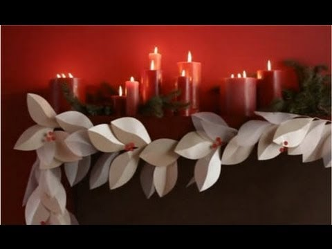 Christmas Decorating Ideas Diy Paper Christmas Garland