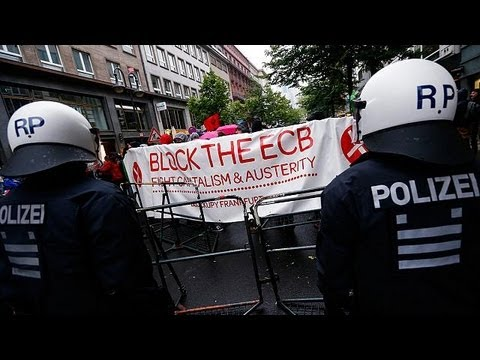 la BCE et l'aéroport de Francfort visés par les anticapitalistes de Blockupy