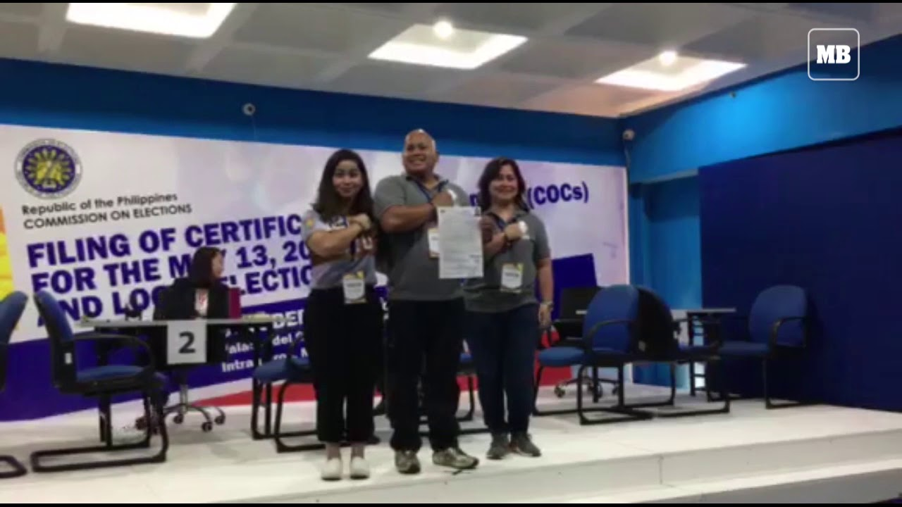 BuCor Chief Bato Dela Rosa files COC for Senator for 2019 May Elections