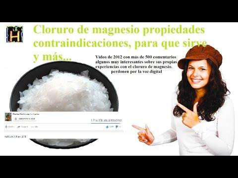 Cloruro de magnesio propiedades contraindicaciones. Cloruro de magnesio para que sirve.