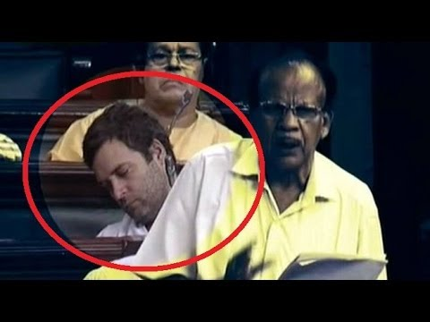 Congress Vice President Rahul Gandhi caught catnapping?