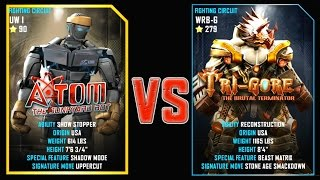 REAL STEEL WRB FINAL ATOM (90) VS TRI GORE (279) New Robots UPDATE (Живая сталь)