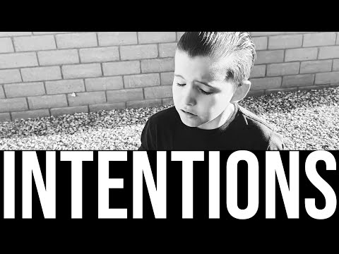 INTENTIONS - JUSTIN BIEBER (Social Distance Music Video Edition) COVER BY MARK ALEXANDER 8 YEAR OLD