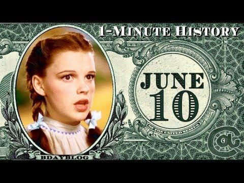 ★1-Minute History | JUNE 10 | Judy Garland, Ray Charles Dies, AA★