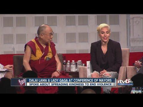 Dalai Lama - Lady Gaga in Indy