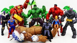 HULK, HULKBUSTER, SUPERMAN, SUPERWOMAN, BATMAN GO GO GO! THANOS Summon Giant Clayface #TOYSPLAYTIME