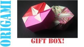Hexagon Box Lid Ver. 3 (modular 2 Piece): Daily Origami - 460 [tcgames Hd]