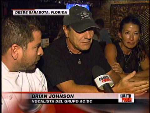 BRIAN JOHNSON DE AC DC AMA LA COMIDA PERUANA