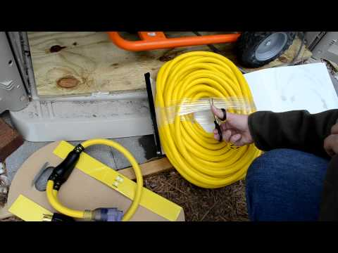 100ft 10/4 AWG Generator Cord Voltage drop test
