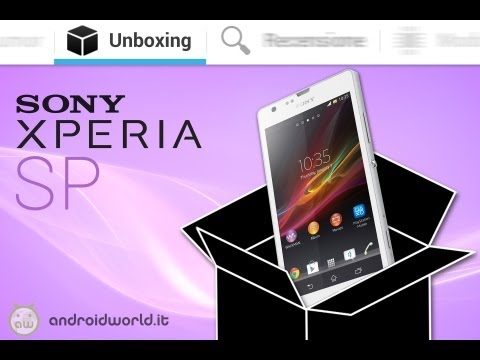 Sony Xperia SP, unboxing in italiano by AndroidWorld.it