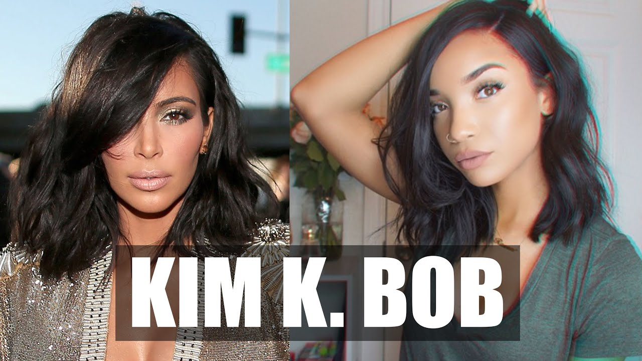 Hair Kim Kardashian Wavy Bob Hairstyle Wowafrican Lace