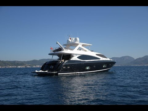 Yacht For Sale Sunseeker 88 / Interior & Deck complete  video tour
