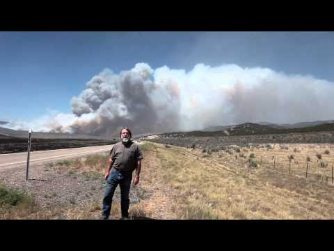 Wood Hollow wildfire Utah Don reports 0232.mov