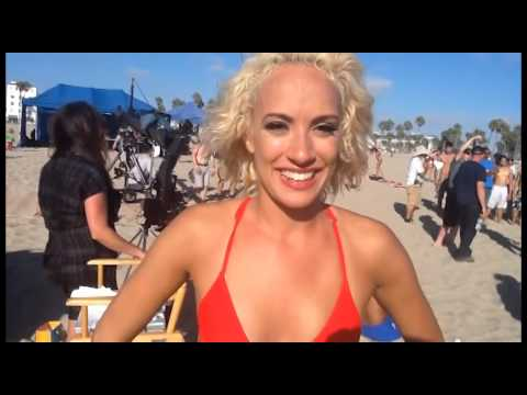 Movie Reviews & More interviews new talent on the beach for XL Energy Drink