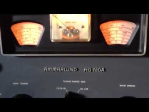 Hammarlund receiver, How to use the two window display, K7PP