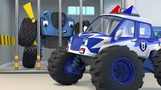 警車抓住了壞蛋 | 最新怪獸警車兒歌 | 学颜色童謠 | 奇妙救援队動畫 | 大灰狼卡通 | 寶寶巴士 | 奇奇 | BabyBus