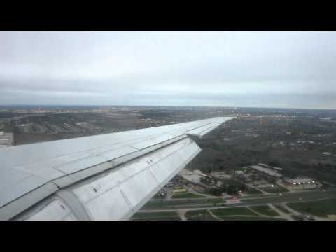 American Airlines MD-80 Landing Austin Bergstrom (AUS) from Dallas Fort-Worth (DFW)