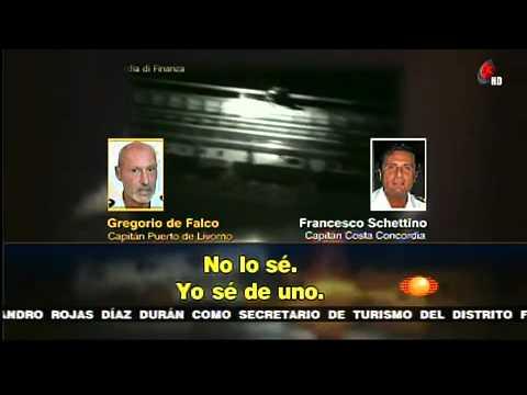 Grabaciones hunden a capitán del Costa Concordia    Noticiero con Joaquín López Dóriga