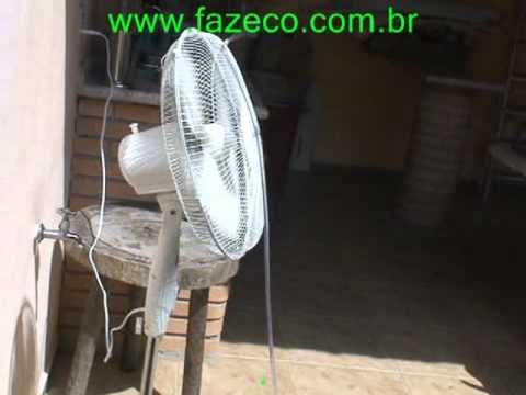 Ventilador borrifador de água