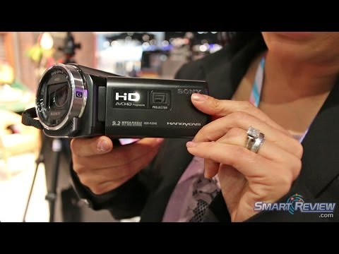 CES 2014   Sony Handycam HDR-PJ540 Projector Camcorder   WiFi   Balanced Optical Steadyshot