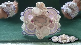 Beading4perfectionists : Damagecontrol #2 : Soutache part 4 candywrapper project beading tutorial