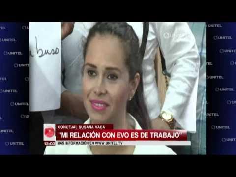 """Susana Vaca: """"Mi relación con Evo Morales es de trabajo"""""""