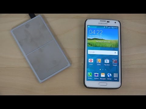 Samsung Galaxy S5 Android 5.0 Wireless Charger LifeCHARGE - Review (4K)