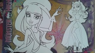 бесплатно распечатать раскраски для девочек монстер хай